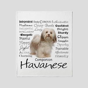 Havanese Traits Throw Blanket
