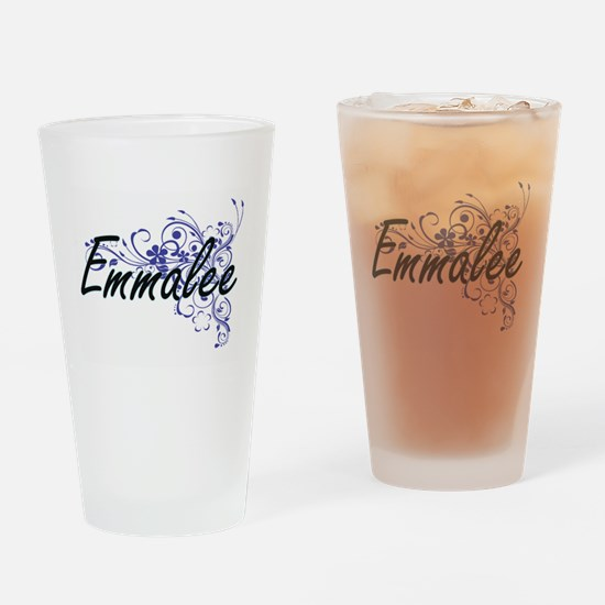 Emmalee Artistic Name Design with F Drinking Glass