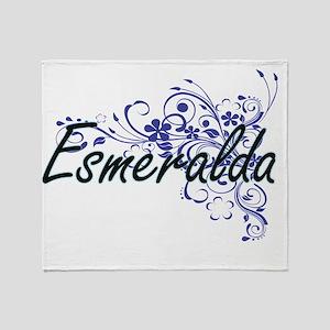 Esmeralda Artistic Name Design with Throw Blanket