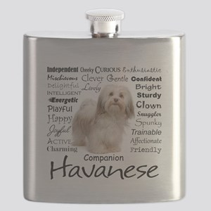Havanese Traits Flask