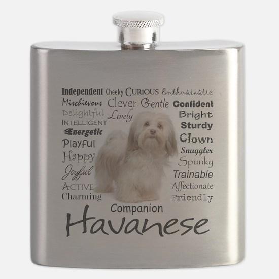 Havanese Traits Flask