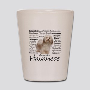 Havanese Traits Shot Glass