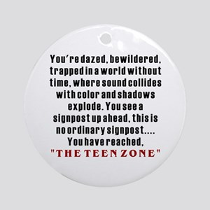 Teen Zone, 13th Gifts Ornament (Round)