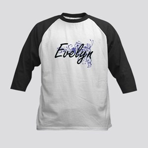 Evelyn Artistic Name Design with F Baseball Jersey
