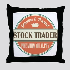 stock trader vintage logo Throw Pillow