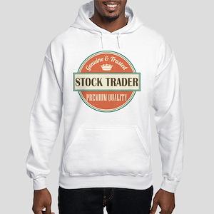 stock trader vintage logo Hooded Sweatshirt
