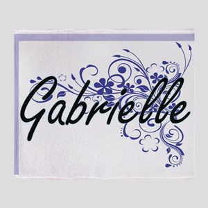Gabrielle Artistic Name Design with Throw Blanket