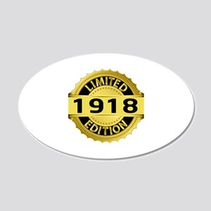 Limited Edition 1918 20x12 Oval Wall Decal