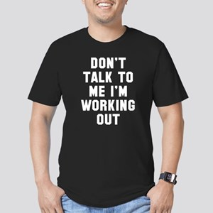 I'm Working Out Men's Fitted T-Shirt (dark)