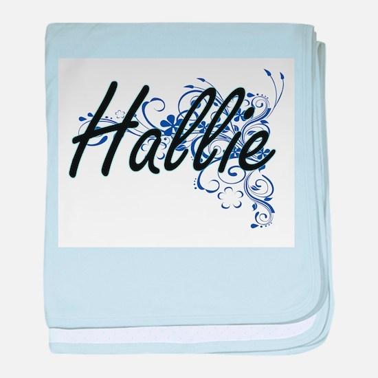 Hallie Artistic Name Design with Flow baby blanket