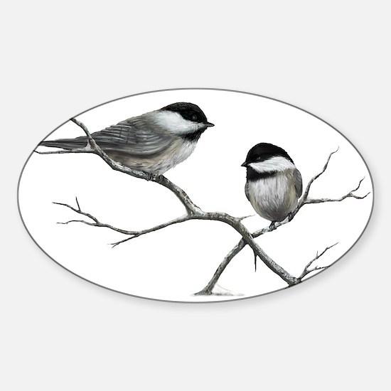 chickadee song bird Decal