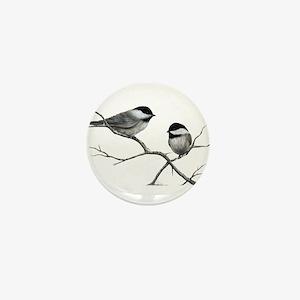 chickadee song bird Mini Button