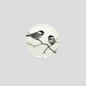 chickadee song bird Mini Button