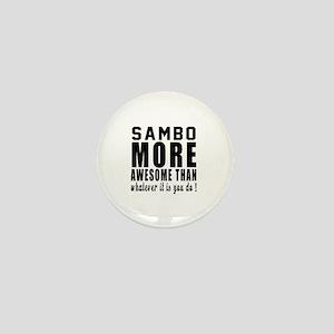 Sambo More Awesome Martial Arts Mini Button