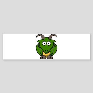 Cartoon Dragon Bumper Sticker