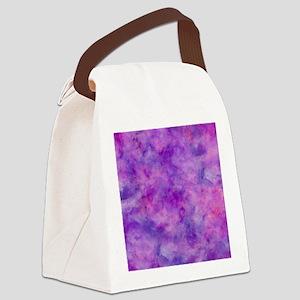 Juicey Purple Watercolor Texture Canvas Lunch Bag