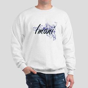Imani Artistic Name Design with Flowers Sweatshirt