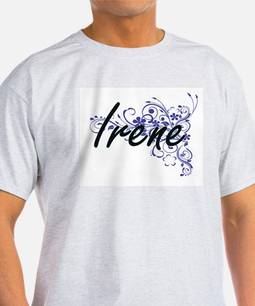Irene Artistic Name Design with Flowers T-Shirt