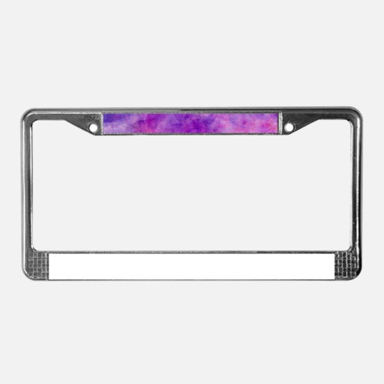 Juicey Purple Watercolor Textu License Plate Frame