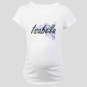 Isabela Artistic Name Design wit Maternity T-Shirt