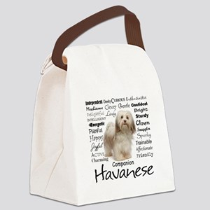 Havanese Traits Canvas Lunch Bag