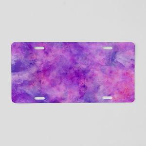 Juicey Purple Watercolor Te Aluminum License Plate