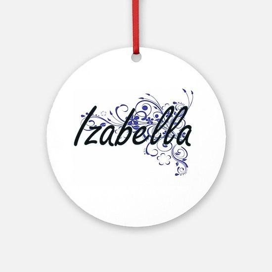 Izabella Artistic Name Design with Round Ornament