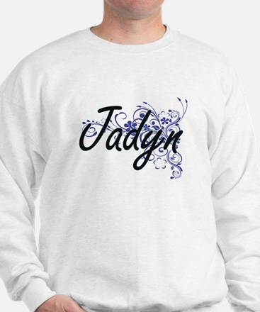 Jadyn Artistic Name Design with Flowers Jumper