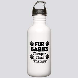 Fur Babies Cheaper Than Therapy Water Bottle