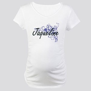 Jaqueline Artistic Name Design w Maternity T-Shirt