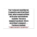 The Sixty Zone, 60th Mini Poster Print