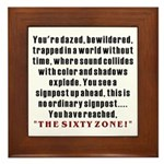 The Sixty Zone, 60th Framed Tile