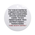The Sixty Zone, 60th Ornament (Round)