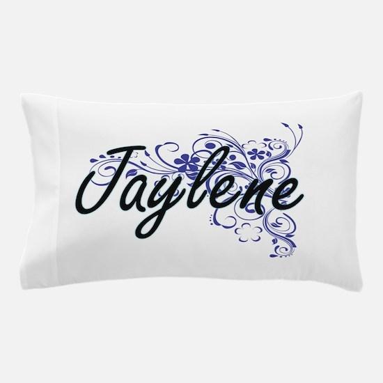 Jaylene Artistic Name Design with Flow Pillow Case