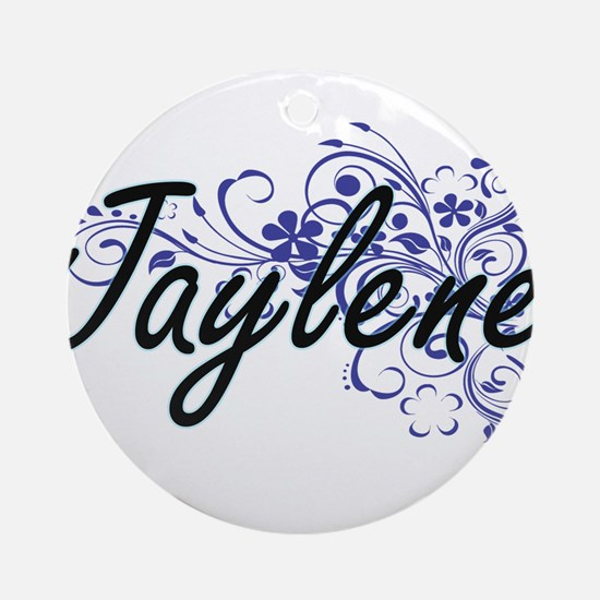 Jaylene Artistic Name Design with F Round Ornament