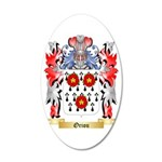 Oriou 35x21 Oval Wall Decal
