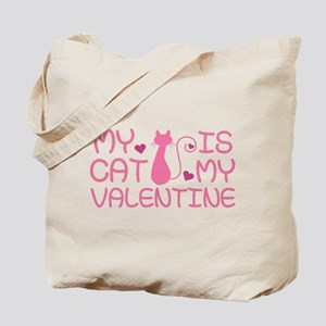 My Cat Is My Valentine Tote Bag