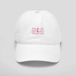 My Cat Is My Valentine Cap