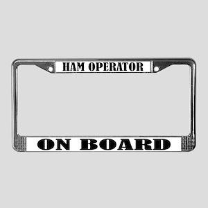 Ham Operator License Plate Frame