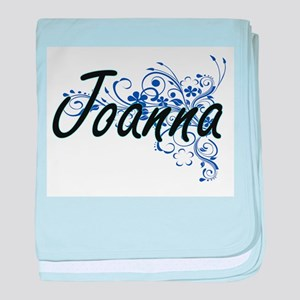 Joanna Artistic Name Design with Flow baby blanket