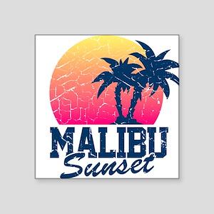 Vintage Malibu Sunset used Sticker