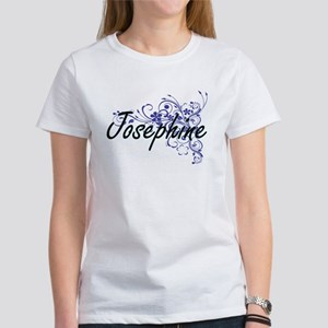 Josephine Artistic Name Design with Flower T-Shirt