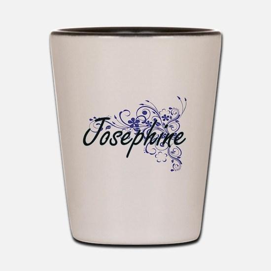Josephine Artistic Name Design with Flo Shot Glass
