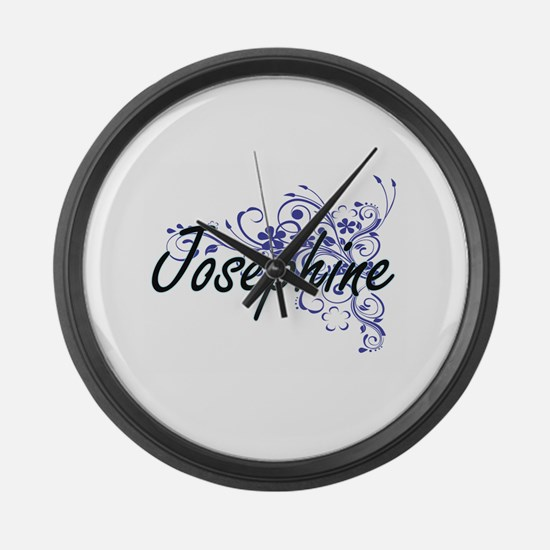 Josephine Artistic Name Design wi Large Wall Clock