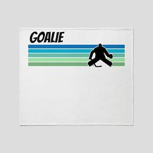 Retro 1970s Hockey Throw Blanket