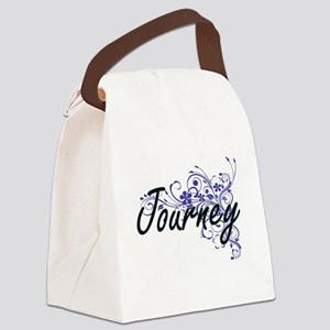 Journey Artistic Name Design with Canvas Lunch Bag