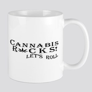 Cannabis Rocks Let's Roll Mugs