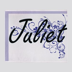 Juliet Artistic Name Design with Flo Throw Blanket