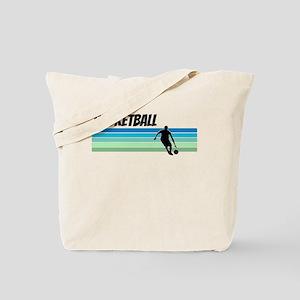 Retro 1970s Basketball Tote Bag