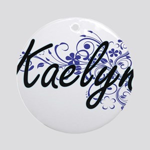 Kaelyn Artistic Name Design with Fl Round Ornament